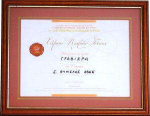 Τυροκομικά Θυμέλης - Βραβείο για τη Γραβιέρα